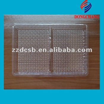 clear pvc plastic blister food tray with dividers