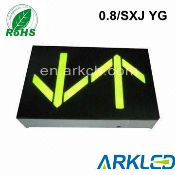 0.8 inch yellow collor arrow led display for elevator use from factory in Wuxi