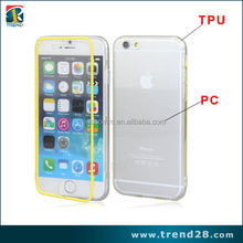 Transparent Touch Screen Frosted Flip Protective Tpu +PC Case For iPhone 6