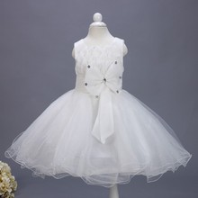 Special Design Hot Sale Cheap Little Girl White Flower Party Wear Puffy Pageant Dress L608