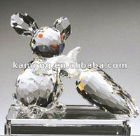Royal Figurine Crystal Rabbits with Carrots For Home Decoration