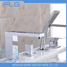 New Arrival High Quality Product FLG409 Lead Free Chrome Finished Cold&Hot Water 5 PCS Bathtub Shower 4 Holes Faucet set