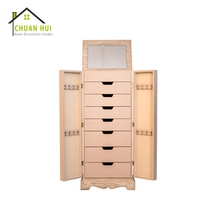 High Floor Standing Many Different Size Drawer Over The Door Beauty Armoire