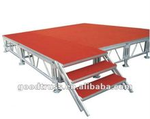 promotion portable stage aluminum plywood stage
