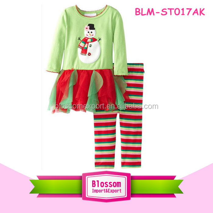 Adorable Children Clothes Red White Stripe Kids Christmas Pajamas for Girl Children Boutique Clothing