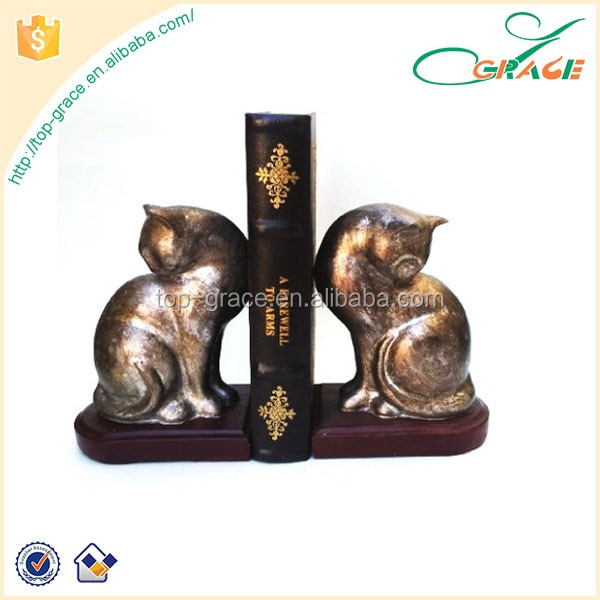 vintage style noble home decoration resin horse book end