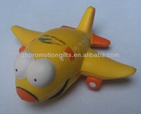 yellow airplane stress balls, pu stress toys