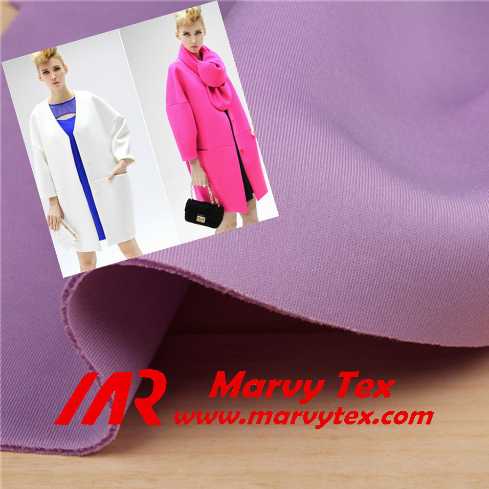 100 polyester double knit fabric women coat fabric scuba textiles fabric