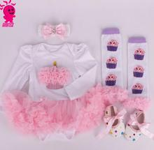 2017 Newborn Baby Girl Clothes Brand Baby 4Pcs Clothing Sets Tutu Romper