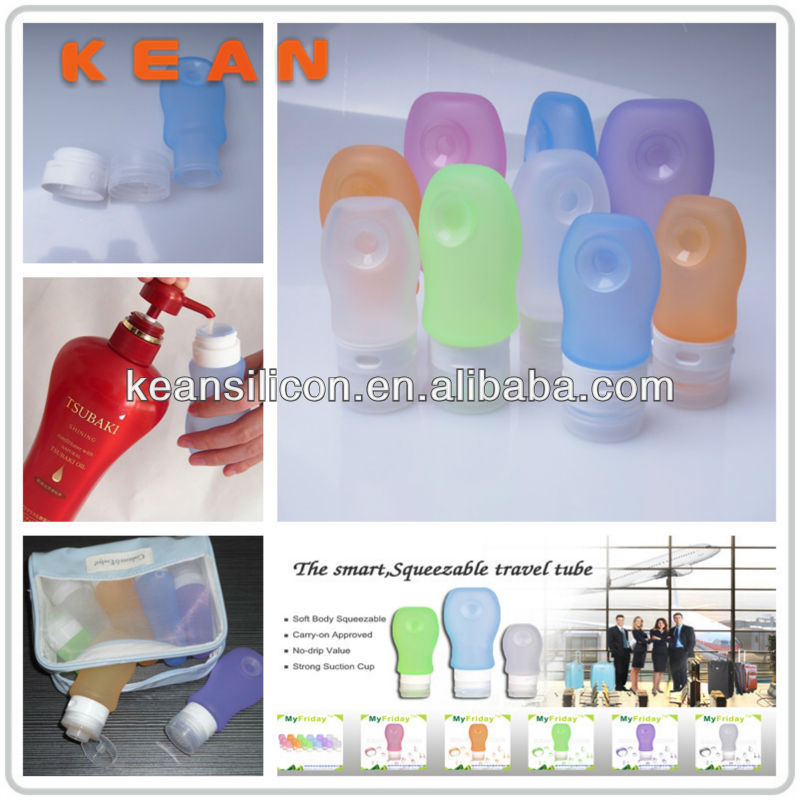 Storage Shaker Bottle/Airline Approved Silione Travel Container Mini Tube For Cosmetic&Conditioners
