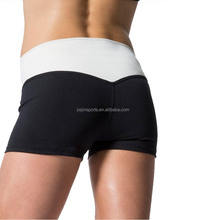 Polyester Spandex Space Dyed Custom Compression wear Wholesale Women Booty Shorts
