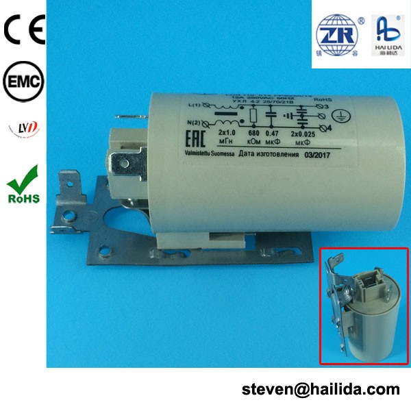 single phase emi filter 220v active harmonic filters rohs approval