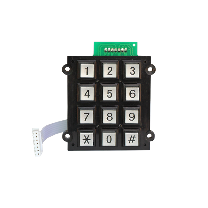 brushed industrial kiosk metal keyboard with touchpad keypad public information inquiry device housing time attendance keypad
