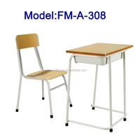 FM-A-308 Single seat primary school desk and chair for students