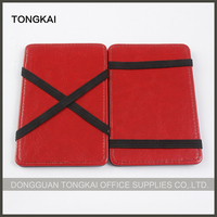 Professional leather magic wallet with strap with newst design