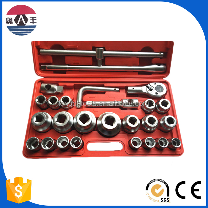2616 China industrial grade Cr-V mirror 1/2 DR. metric 26pcs Universal Socket Wrench