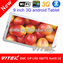 Top Quality 3G wifi dual core flytouch 9 tablet pc