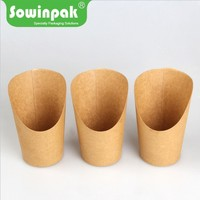 Sowinpak manufacture take away brown kraft fish and chips paper boxes