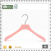 Eisho Betterall pink wood coat hanger for showing women's clothing