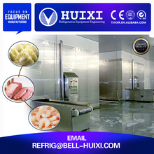 vegetables freezing tunnel iqf belt cas quick freezer