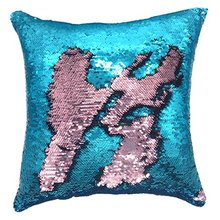sequin custom mermaid pillow case wholesale Reversible pillowcases Throw Color Changing Sequins Standard