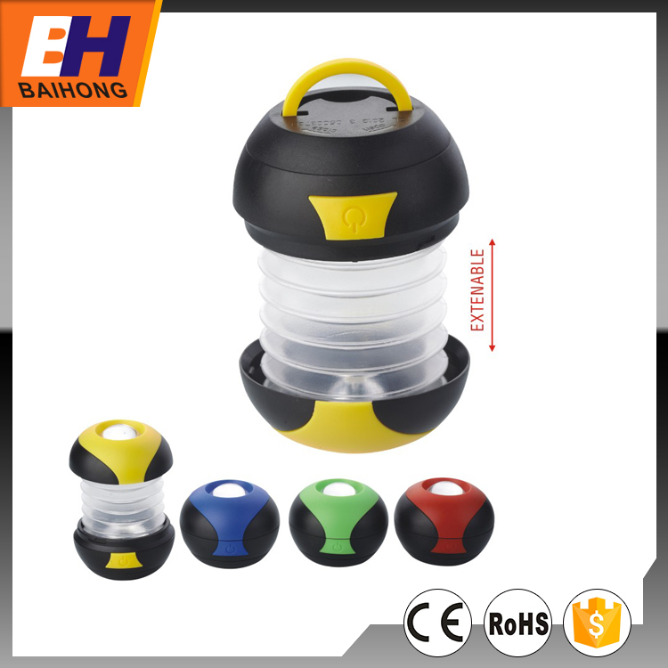 Extendable 3W LED Camping Lantern, 80lm, Powered by 3xAAA Battery