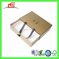 E0095 China Wholesale Luxury Custom Printed Carboard Slide Box With Rope Handle, New Design Gift Box