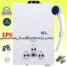 New Model 6L/8L/10L/12L/19L min LPG Gas Tankless Water Heater Digital Display, with shower head