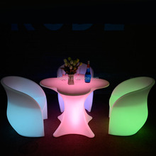 good price outdoor led furniture led light table garden table set