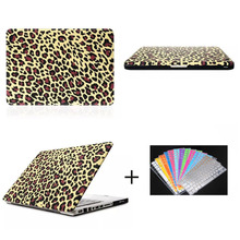 Shell Case for Macbook Pro 13.3'15.4', for Macbook Gold Leopard Pattern PC shell case with keyboard protector