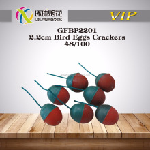 GFBF2201 2.2CM BIRD PLASTIC EGGS ROUND BANG FIRECRACKER ONLY FOR ADULTS OUTDOOR USED OF 1.4G LIUYANG FIREWORKS UN0336