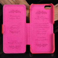 Luxury real leather flip case for iphone5, sexy girls case for iphone 5