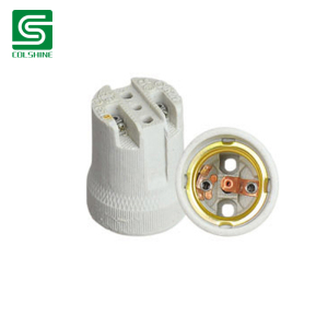 Porcelain E27 Screw Style fluorescent lamp holder