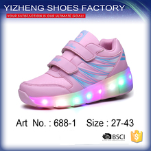 New mould fashion Kid Youth Skates Sneakers Wheels LED Roller Shoes