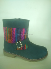 middle knit zip up boots for girls
