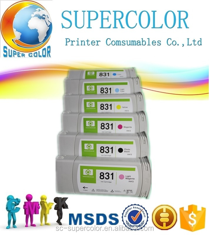 Remanufactured ink cartridge 831 ink cartridge for HP Latex 310 330 360 printer