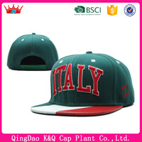 Factory custom classical snapback Italy country flag hat