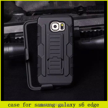 cool!robot case for samsung s6 edge ,silicone +pc combo case for samsung galaxy s6 edge