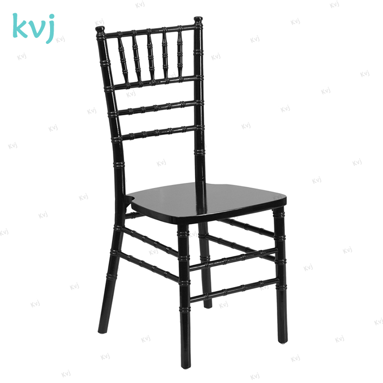 KVJ-7894 wholesale wedding party black solid wood tiffany chair
