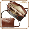genuine leather women business work tote bag office lady hand bags with long shoulder strap