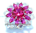925 Sterling Silver Created Ruby Ring Gemstone Jewelry Hong Kong Wholesale