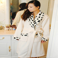 2014 Luxury Women's Shawl Collar Wrap Robe