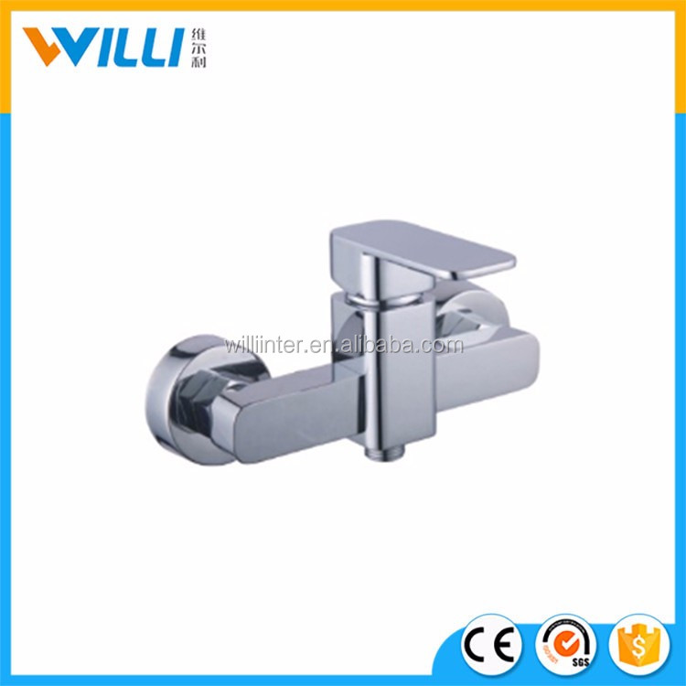 WLF1005 Brass Valve Core Material and Bath&Shower Faucets Type antique brass wall mounted shower faucet set