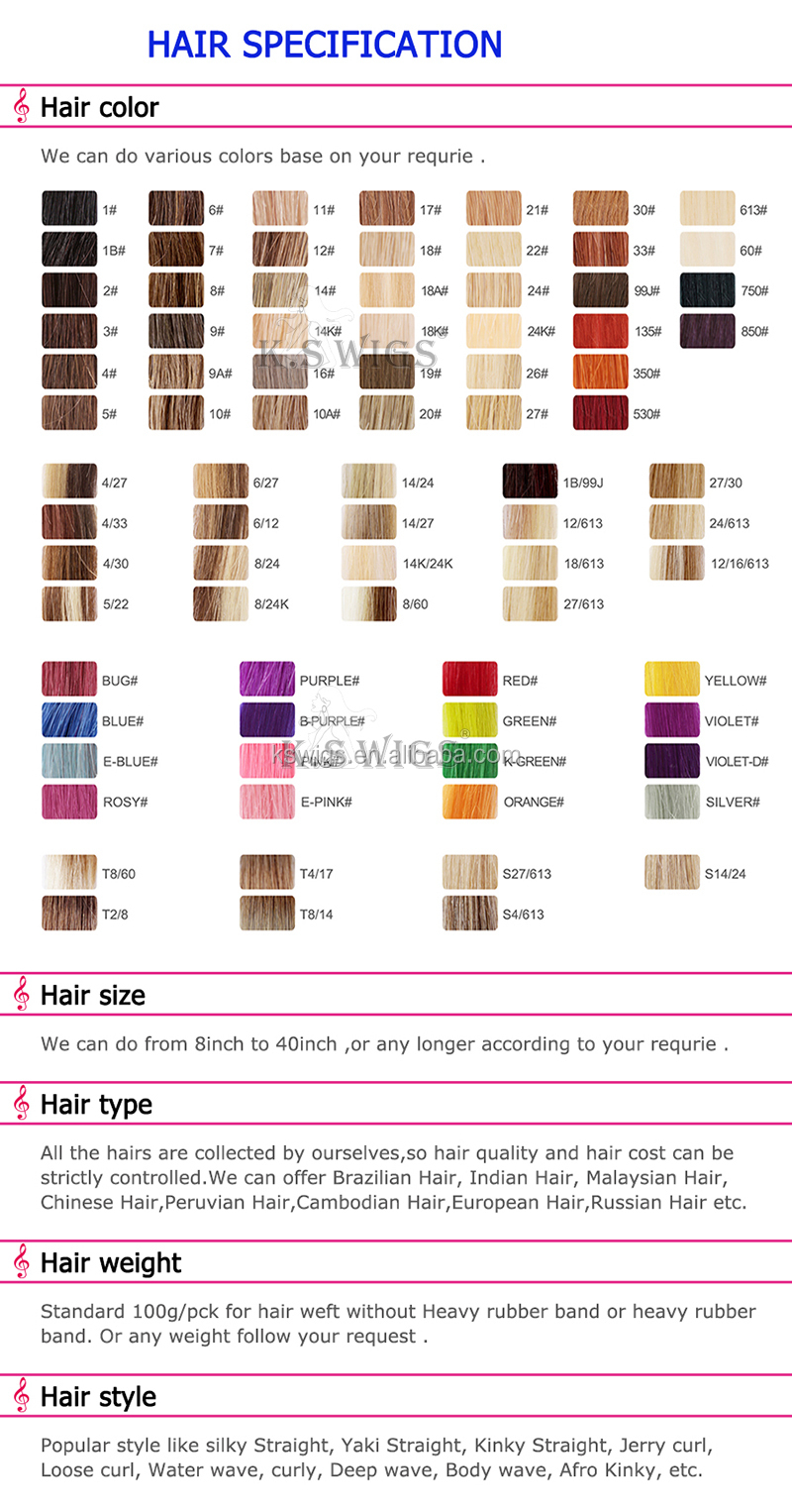 K.S WIGS Clip in Natural Human Hair Ponytail Extension Free Sample