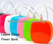 Full Capacity Lepow Stone Colorful 6000mAh Power Bank/Portable Cellphone Battery Charger For Laptop DY5008