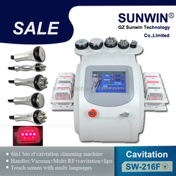 SW-216F multifunction ultrasonic cavitation+RF+laser for hair tattoo weight loss equipment
