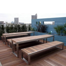 Wholesale Metal Leisure Solid Plastic wood Modern Outdoor Garden <strong>Furniture</strong>