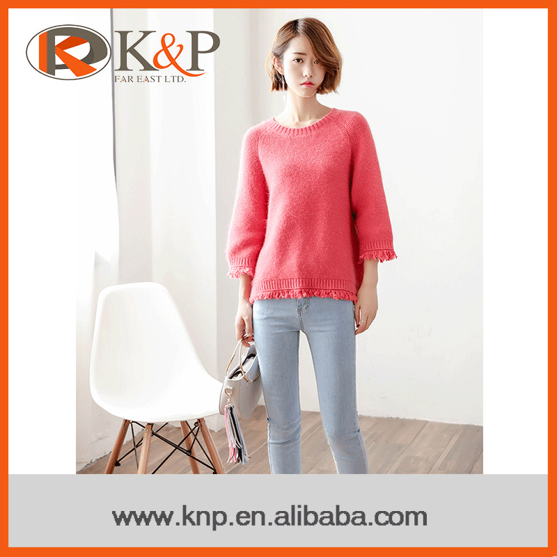 Oline shopping newest style nylon angora winter pullover thick sweater