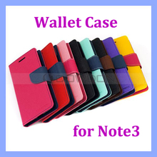 Hybrid Diary Wallet Flip Leather Case for Samsung Galaxy Note 3 Phone Cover