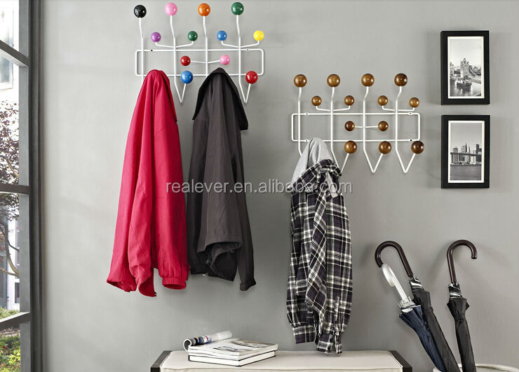 Wholesale strong wall mounted metal hooks clothes hanger/tree/stand